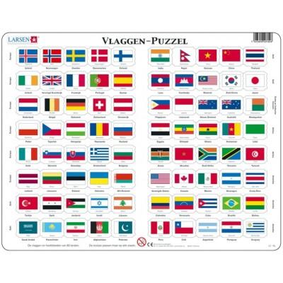 Larsen-L2-NL Rahmenpuzzle - Vlaggen (Holländisch)