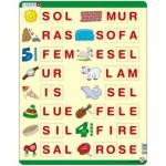 Larsen-LS15 Rahmenpuzzle - Buchstabieren lernen 1 (auf Norwegisch)