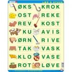 Larsen-LS17 Rahmenpuzzle - Buchstabieren lernen 3 (auf Norwegisch)