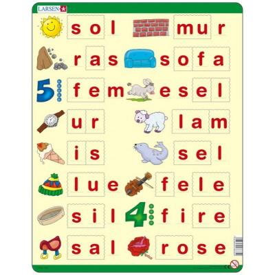 Larsen-LS35 Rahmenpuzzle - Lær å lese (små bokstaver) (auf Norwegisch)
