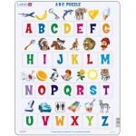 Larsen-LS826-FR Rahmenpuzzle - Das Alphabet (auf Französisch)
