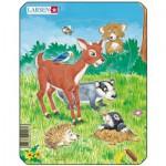 Larsen-M1-3 Rahmenpuzzle - Tiere des Waldes