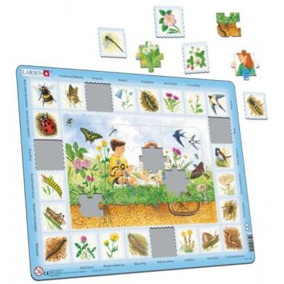 Larsen-NA1-NL Rahmenpuzzle - In der Natur (Holländisch)
