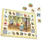 Larsen-NA4-FR Rahmenpuzzle - Die Tiere aus dem Wald (auf Französisch)