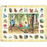 Larsen-NA4-NL Rahmenpuzzle - Die Tiere aus dem Wald (Holländisch)