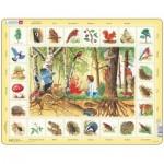 Larsen-NA4-RU Rahmenpuzzle - Die Tiere aus dem Wald (auf Russisch)