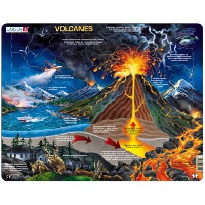 Larsen-NB2-ES Rahmenpuzzle - Volcanes (auf Spanisch)
