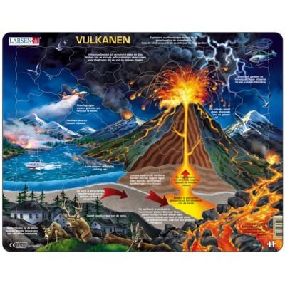 Larsen-NB2-NL Rahmenpuzzle - Vulkanen (Holländisch)