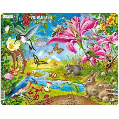 Larsen-NB4-DE Rahmenpuzzle - Die Blumen und die Bienen
