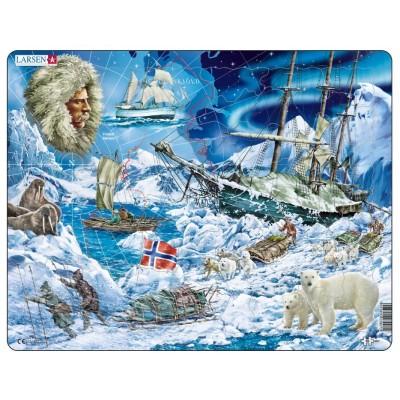 Larsen-NB7 Rahmenpuzzle - Auf dem Weg zu dem Nordpol