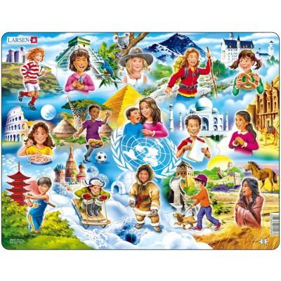 Larsen-NM8 Rahmenpuzzle - Welt der Kinder