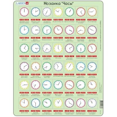 Larsen-OB7-RU Rahmenpuzzle - Wie spät ist es?(auf Russisch)