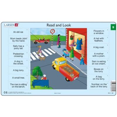 Larsen-RA05-EN-9-10 Rahmenpuzzle - Read and Look 09-10 (auf Englisch)