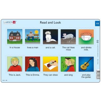 Larsen-RA06-EN-11-12 Rahmenpuzzle - Read and Look 11-12 (auf Englisch)