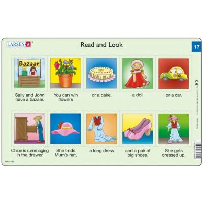 Larsen-RA09-EN-17-18 Rahmenpuzzle - Read and Look 17-18 (auf Englisch)