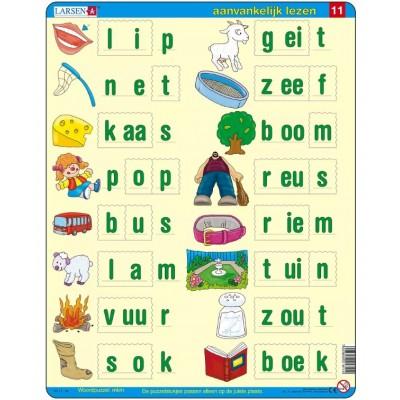 Larsen-SC11-NL Rahmenpuzzle - Lerne Niederländisch zu lesen 5