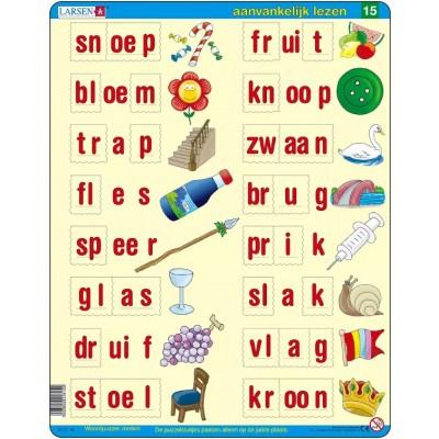 Larsen-SC14-NL Rahmenpuzzle - Lerne Niederländisch zu lesen 4