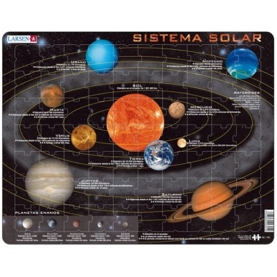 Larsen-SS1-ES Rahmenpuzzle - Sistema Solar (auf Spanisch)