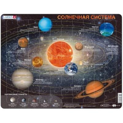 Larsen-SS1-RU Rahmenpuzzle - Das Sonnensystem (auf Russisch)