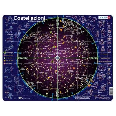 Larsen-SS2-IT Rahmenpuzzle - Costellazioni (auf Italienisch)