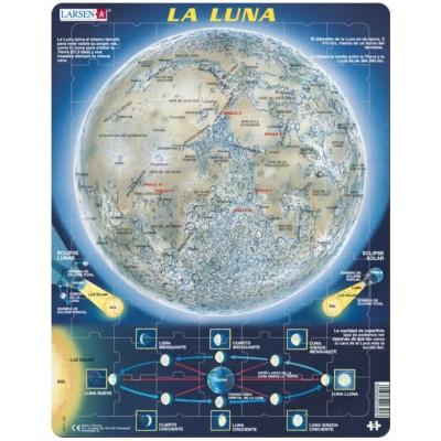 Larsen-SS5-ES Rahmenpuzzle - La Luna (auf Spanisch)