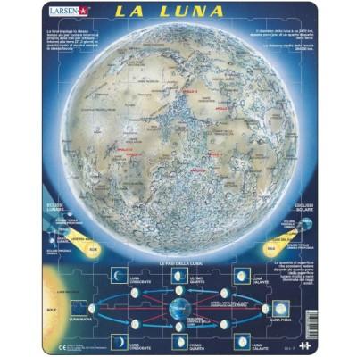 Larsen-SS5-IT Rahmenpuzzle - La Luna (auf Italienisch)
