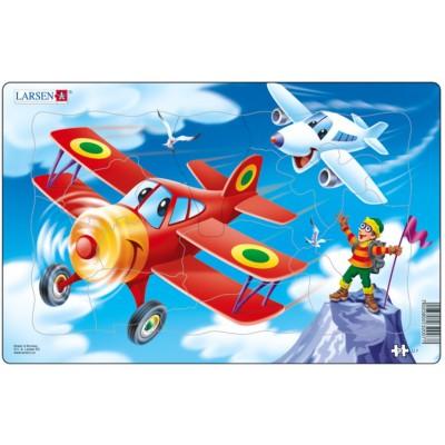 Larsen-U7-2 Rahmenpuzzle - Flugzeuge