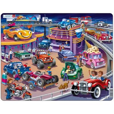 Larsen-US19 Rahmenpuzzle - Autos