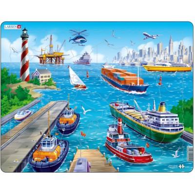 Larsen-US2 Rahmenpuzzle - Am Hafen