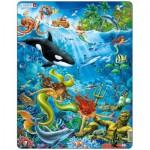Larsen-US20 Rahmenpuzzle - Meerjungfrauen