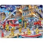 Larsen-US21 Rahmenpuzzle - Feuerwehreinsatz