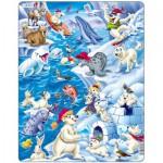 Larsen-US28 Rahmenpuzzle - Tiere der Arktis