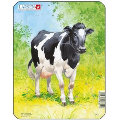Larsen-V1-3 Rahmenpuzzle - Kuh