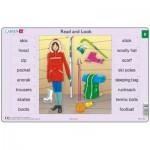 Larsen-xRA4-8 Rahmenpuzzle - Read and Look 8 (auf Englisch)