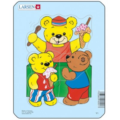 Larsen-Y1-1 Rahmenpuzzle - Teddybär