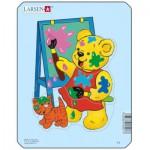 Larsen-Y1-3 Rahmenpuzzle - Teddybär