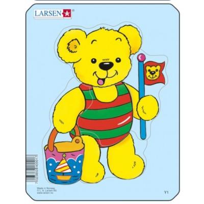 Larsen-Y1-4 Rahmenpuzzle - Teddybär