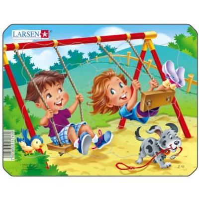 Larsen-Z10-2 Rahmenpuzzle - Spielplatz