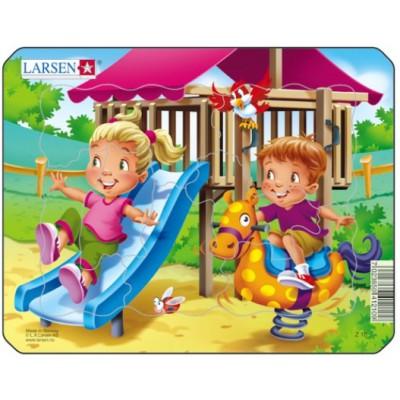 Larsen-Z10-4 Rahmenpuzzle - Spielplatz