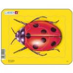 Larsen-Z2-4 Rahmenpuzzle - Marienkäfer