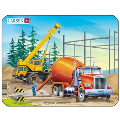 Larsen-Z3-2 Rahmenpuzzle - Betonmischer