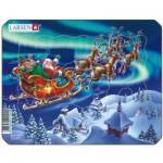 Larsen-Z5 Rahmenpuzzle - Weihnachtsmann im Nordlicht