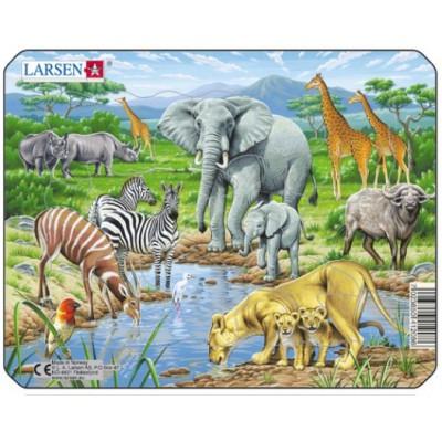 Larsen-Z8-1 Rahmenpuzzle - Dschungeltiere