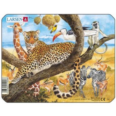 Larsen-Z8-2 Rahmenpuzzle - Dschungeltiere
