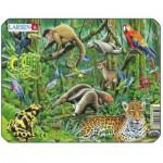 Larsen-Z8-3 Rahmenpuzzle - Dschungeltiere