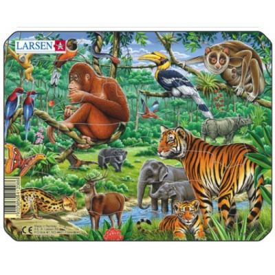 Larsen-Z8-4 Rahmenpuzzle - Dschungeltiere