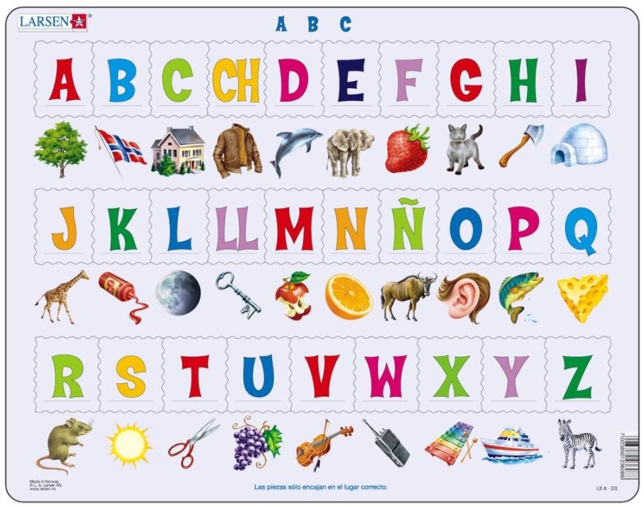Rahmenpuzzle - A B C Puzzle (auf Spanisch) Larsen-LS829-ES 26 Teile ...