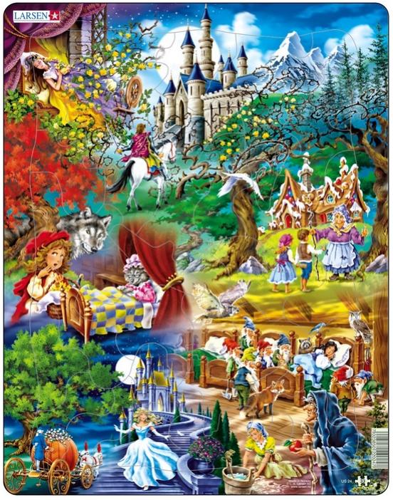 rahmenpuzzle  grimms märchen larsenus24 33 teile puzzle