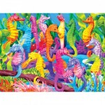 Puzzle  Master-Pieces-31359 XXL Teile - Glow in the Dark - Singing Seahorses
