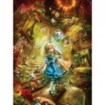 Puzzle  Master-Pieces-31443 XXL Teile - Book Box - Down the Rabbit Hole